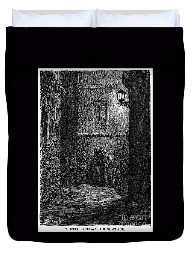 1872 Duvet Cover featuring the photograph Dore: London, 1872 by Granger