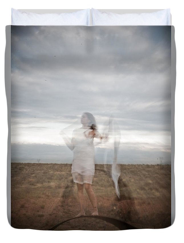 Long Exposure Duvet Cover featuring the photograph Double Image Ghost by Scott Sawyer