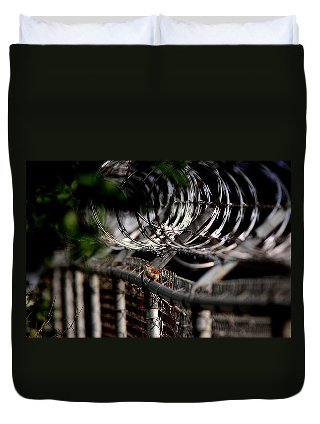 Carolina Wren Duvet Cover featuring the photograph Double Protection by Travis Truelove