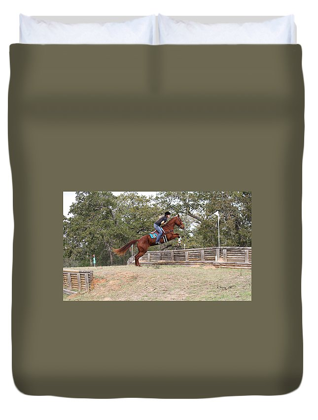 Roena King Duvet Cover featuring the photograph Double Up Hill Jump by Roena King