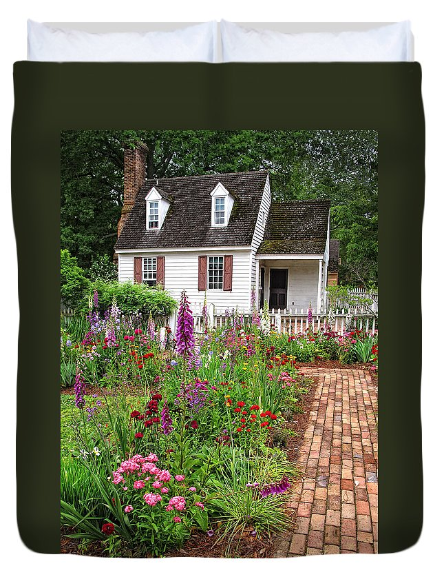 Garden Duvet Cover featuring the photograph Down A Garden Path by Dave Mills