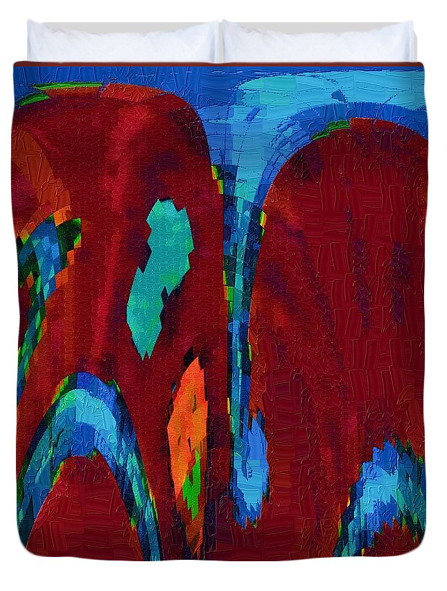 Knees Duvet Cover featuring the digital art Down On My Knees by Alec Drake