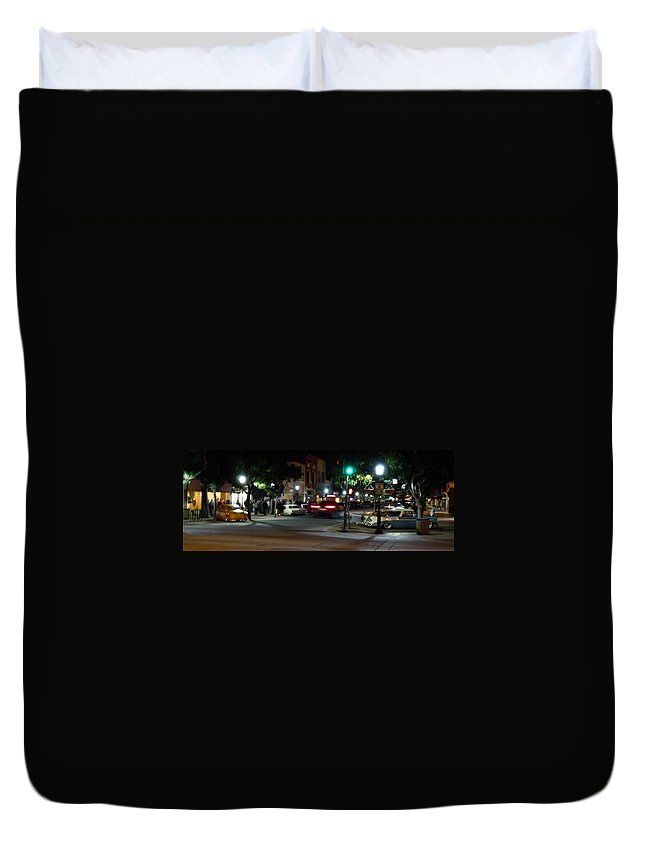 Main Duvet Cover featuring the photograph Downtown by Customikes Fun Photography and Film Aka K Mikael Wallin