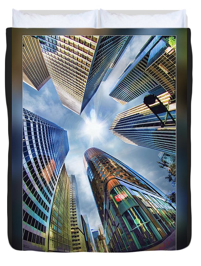 Art Photography Duvet Cover featuring the photograph Downtown Sunstream by Blake Richards
