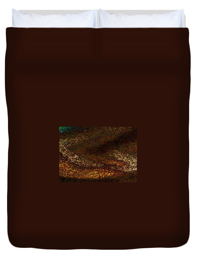 Duvet Cover featuring the painting Dragon's Tale Macro1 by Christopher Gaston