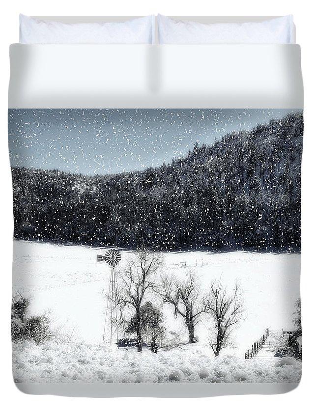 Winter Duvet Cover featuring the photograph Dreams Of Snow by Saija Lehtonen
