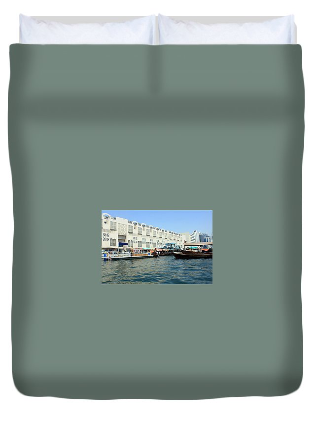 Water Duvet Cover featuring the photograph Dubai Water by Munir Alawi