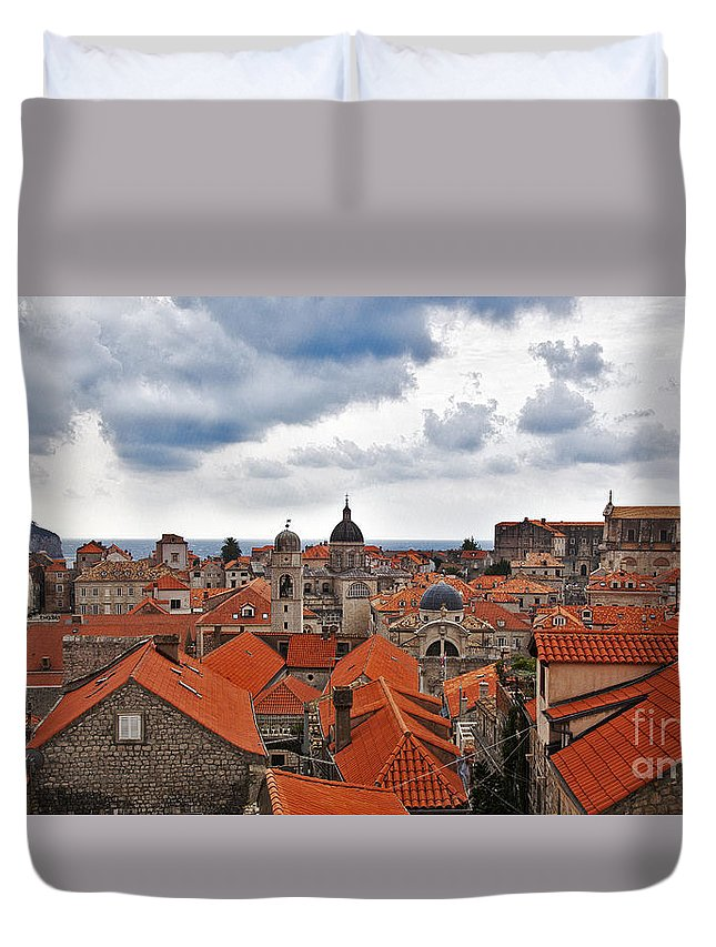 Dubrovnik Duvet Cover featuring the photograph Dubrovnik View 7 by Madeline Ellis