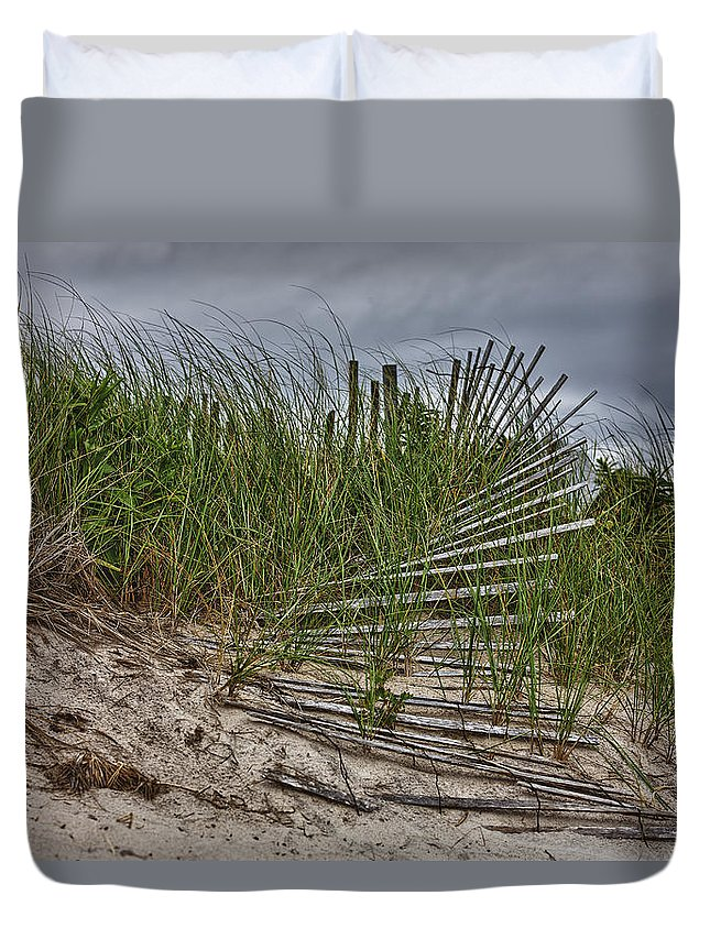 East Hampton Duvet Cover featuring the photograph Dunes by Rick Berk