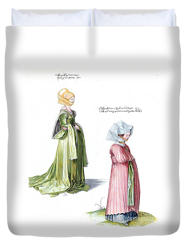 1500 Duvet Cover featuring the photograph Durer: Fashion, 1500 by Granger