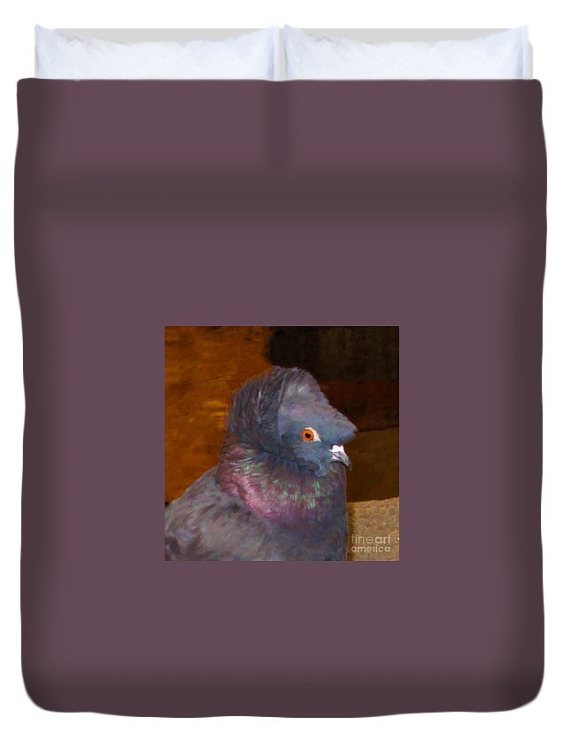 English Trumpeter Duvet Cover featuring the digital art E T Power by L J Oakes