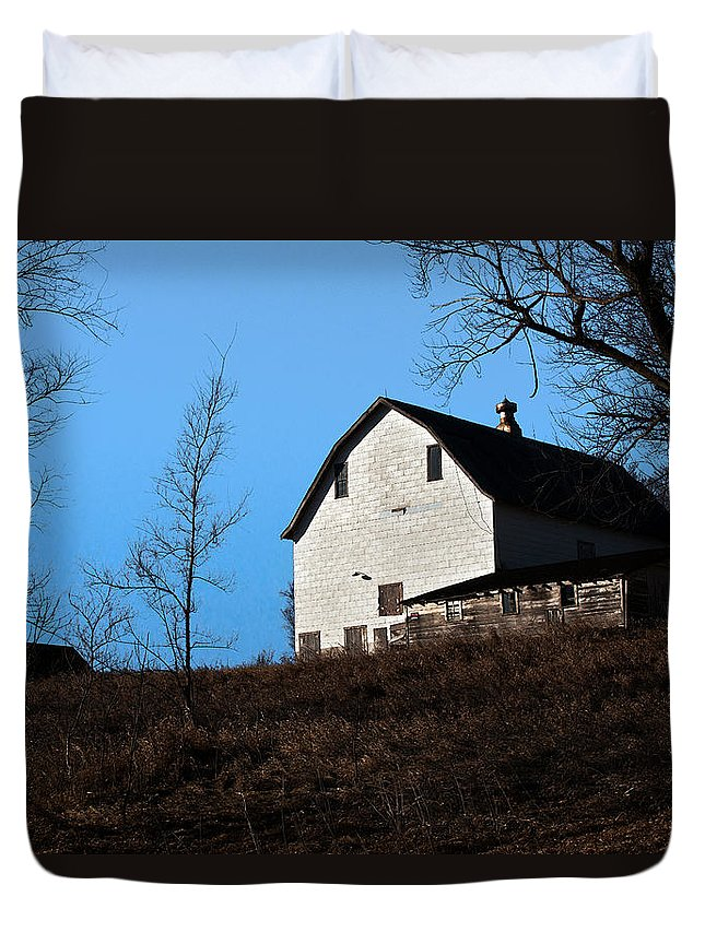 Barn Duvet Cover featuring the photograph Early Morning Barn by Edward Peterson
