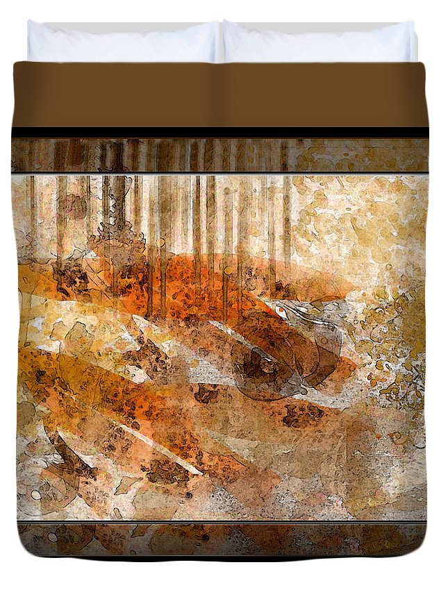 Abstract Duvet Cover featuring the photograph Earthtones Abstract by Debbie Portwood