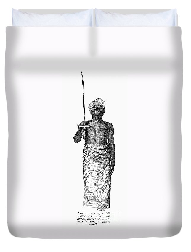 1889 Duvet Cover featuring the photograph East Africa: Executioner by Granger