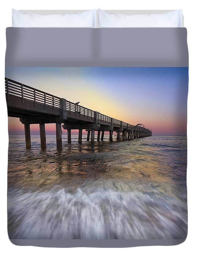 Clouds Duvet Cover featuring the photograph Eastern Glow by Debra and Dave Vanderlaan