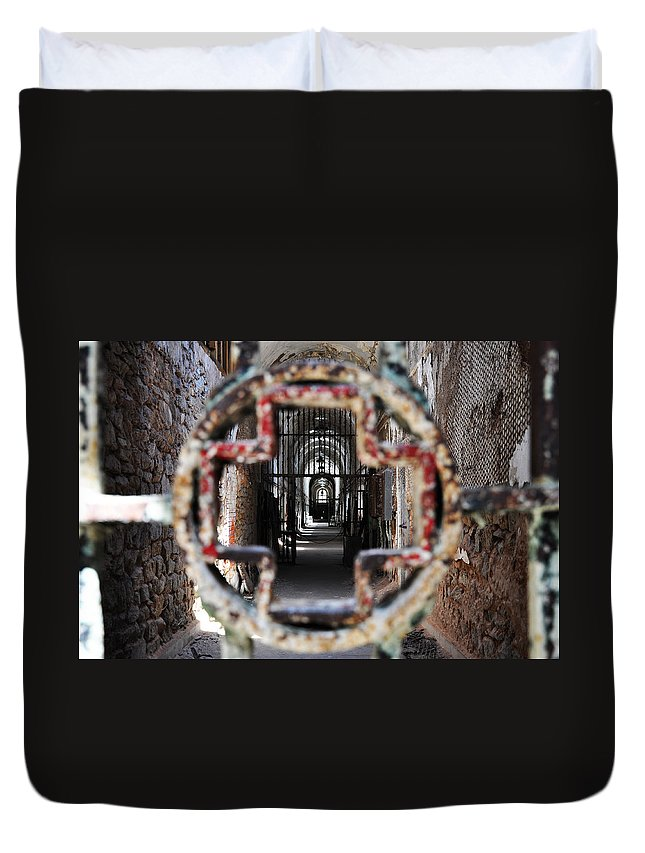 Eastern State Penitentiary - Medical Ward Duvet Cover featuring the photograph Eastern State Penitentiary - Medical Ward by Bill Cannon
