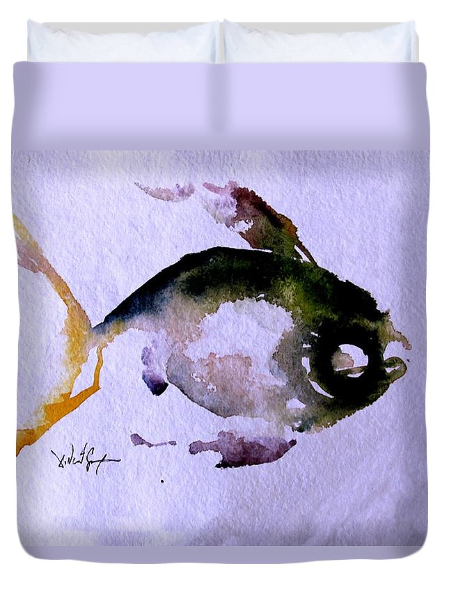 Fish Duvet Cover featuring the painting Echo Fish Fourteen by J Vincent Scarpace