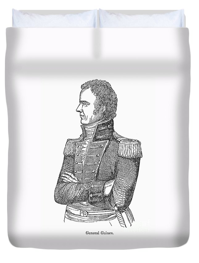 19th Century Duvet Cover featuring the photograph Edmund Pendleton Gaines by Granger