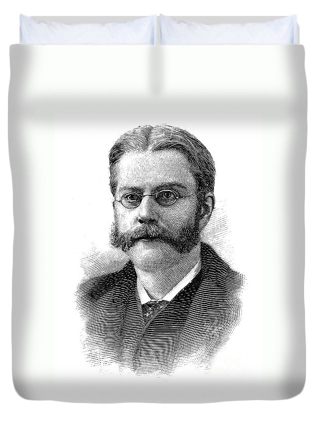 1894 Duvet Cover featuring the photograph Edward Holden (1846-1914) by Granger