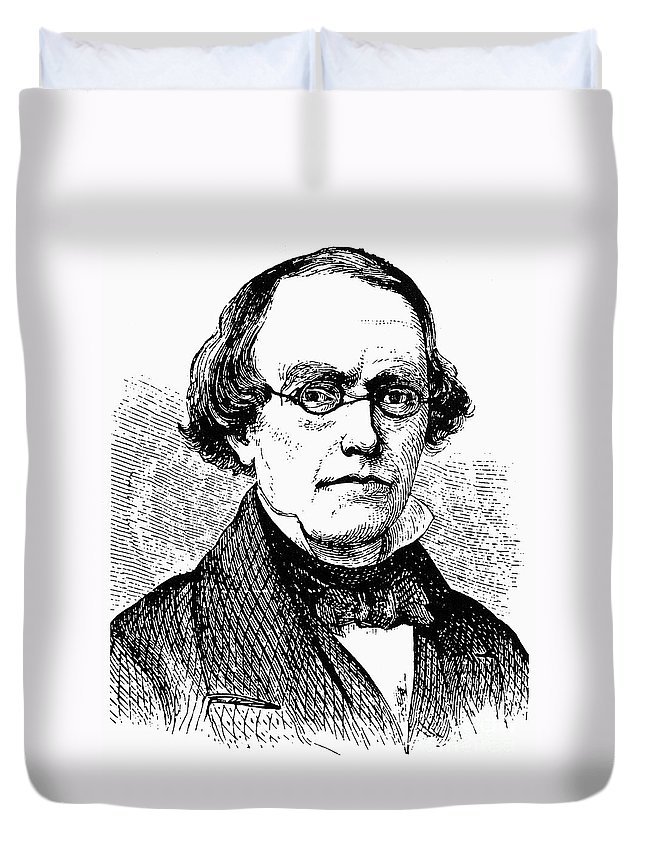 19th Century Duvet Cover featuring the photograph Edward Robinson (1794-1863) by Granger