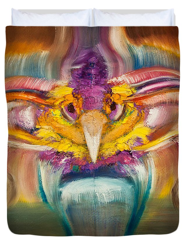 Fire Duvet Cover featuring the painting El Fenix by Aliosha Valle