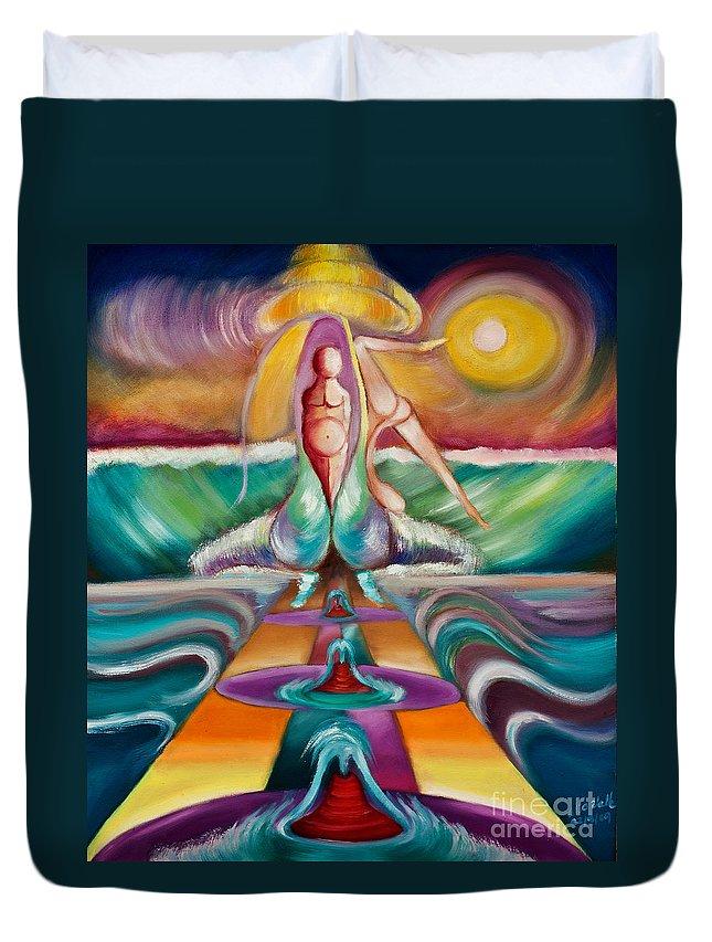 Waves Duvet Cover featuring the painting El Mar Esta De Fiesta by Aliosha Valle