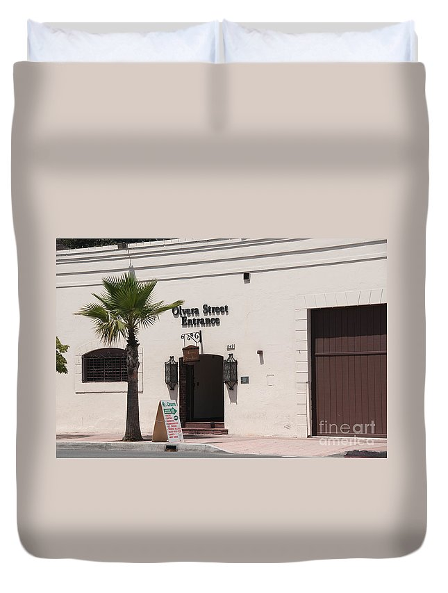 California Duvet Cover featuring the digital art El Pueblo De Los Angeles by Carol Ailles
