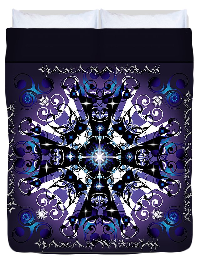 Abstract Duvet Cover featuring the digital art Elan 1 by George Pasini