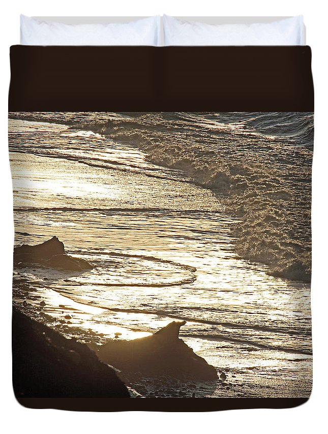 Beach Duvet Cover featuring the photograph Eldorado Beach by Marie Jamieson