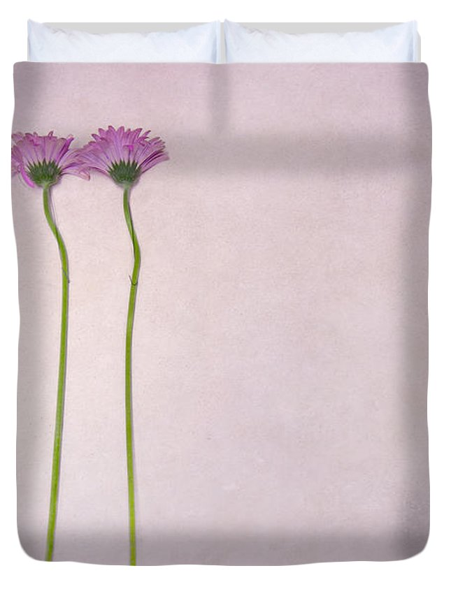 Flower Duvet Cover featuring the photograph Elegy Of Existence by Evelina Kremsdorf