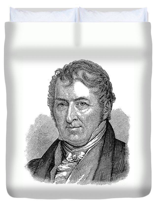 18th Century Duvet Cover featuring the photograph Eli Whitney (1765-1825) by Granger