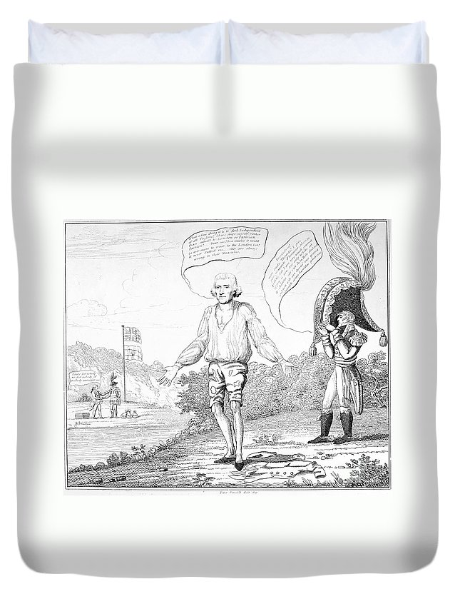 1809 Duvet Cover featuring the photograph Embargo Repeal, 1809 by Granger