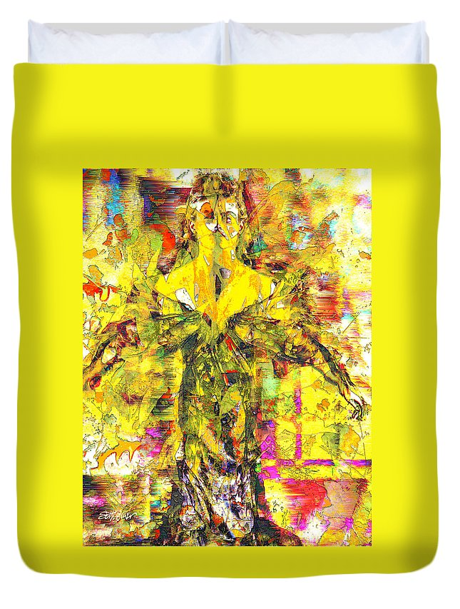 Embrace Of Fall Duvet Cover featuring the digital art Embrace of Fall by Seth Weaver