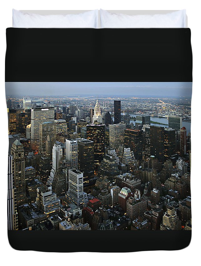 Empire's View Duvet Cover featuring the photograph Empire's View by Wes and Dotty Weber
