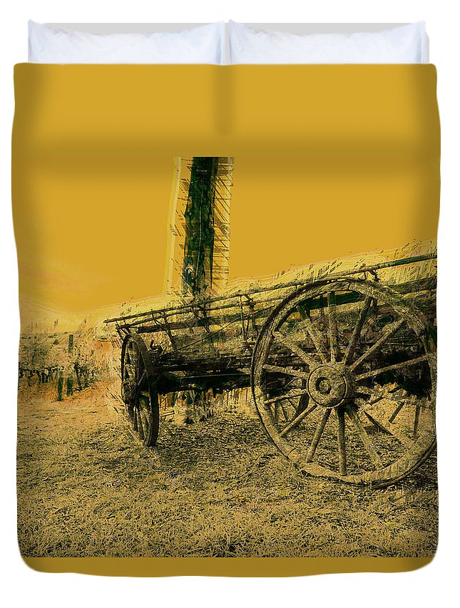 Horse Duvet Cover featuring the photograph Empty Dreams by Douglas Barnard