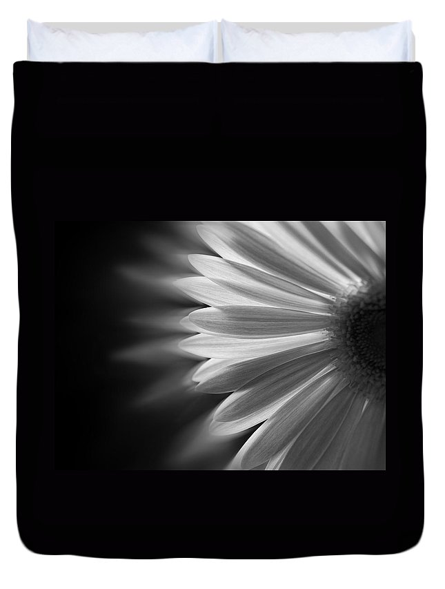 Black And White Duvet Cover featuring the photograph Enchanting by Ivelina G