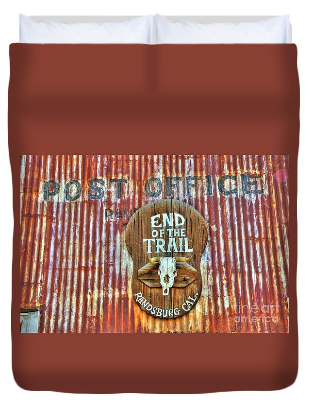 Randsburg Post Office Duvet Cover featuring the photograph End Of The Trail by Bob Christopher