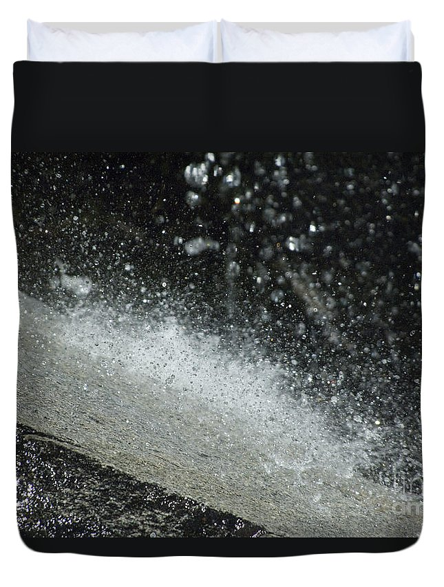 Water Duvet Cover featuring the photograph End Of The Waterfall by Sandra Bronstein