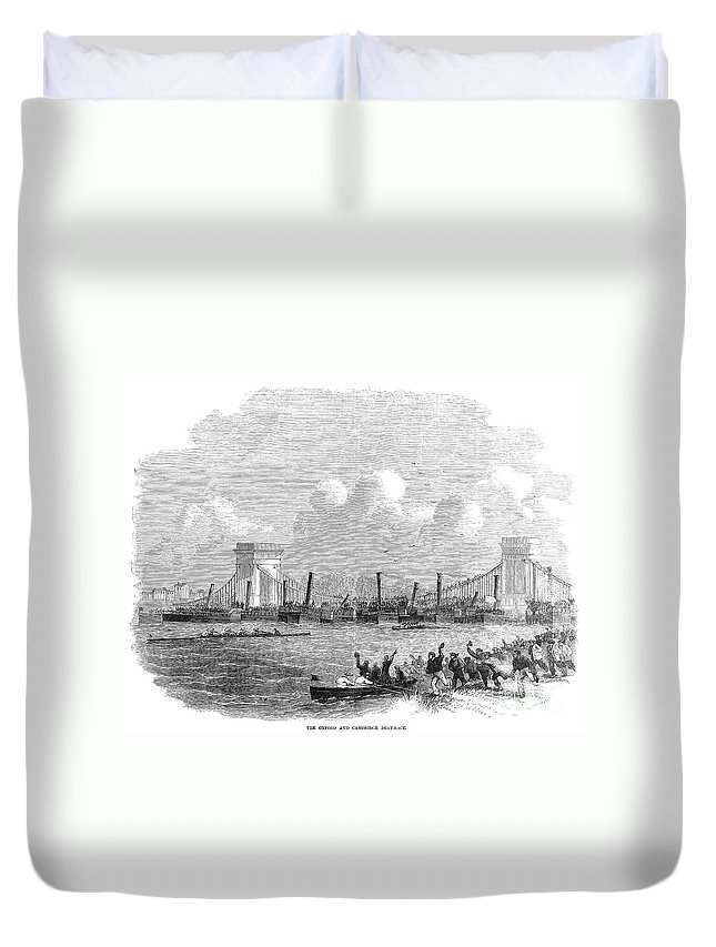 1858 Duvet Cover featuring the photograph England: Boat Race, 1858 by Granger