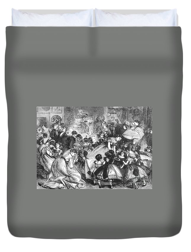 19th Century Duvet Cover featuring the photograph England: Christmas Party by Granger