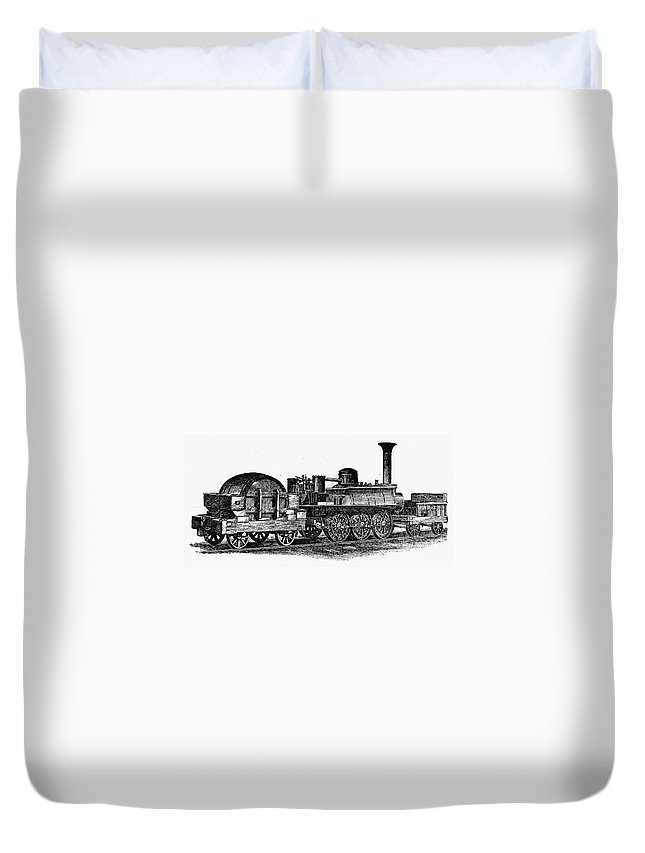 1832 Duvet Cover featuring the photograph England: Locomotive, C1831 by Granger