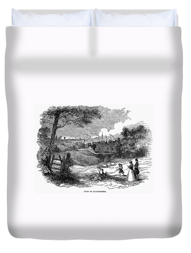 1842 Duvet Cover featuring the photograph England: Manchester, 1842 by Granger