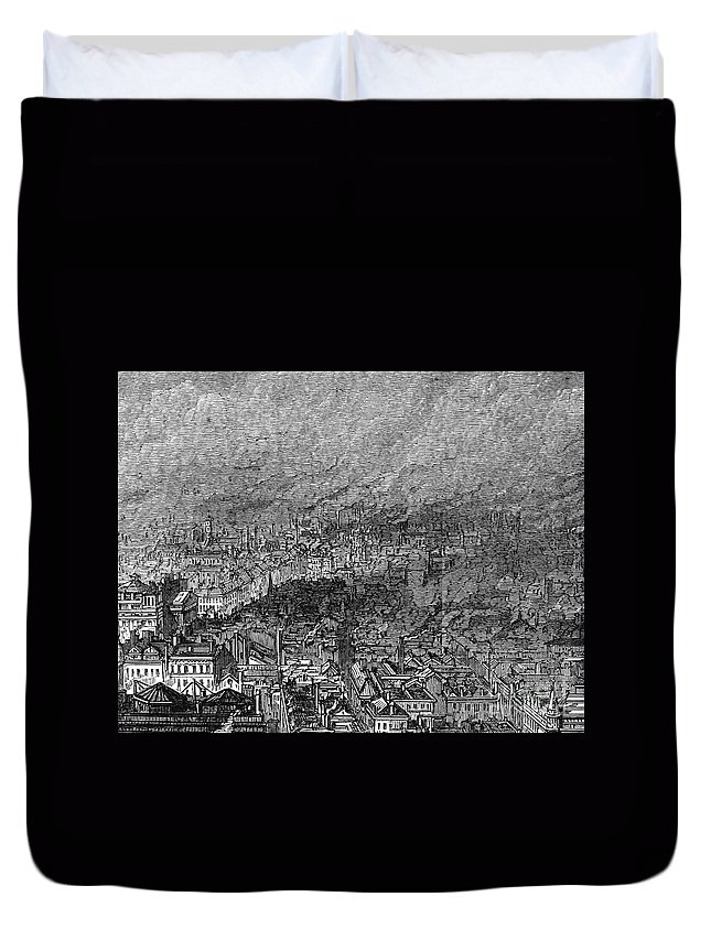 1876 Duvet Cover featuring the photograph England: Manchester, 1876 by Granger