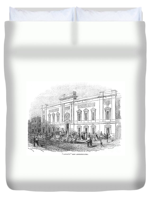 1843 Duvet Cover featuring the photograph England: Theatre, 1843 by Granger