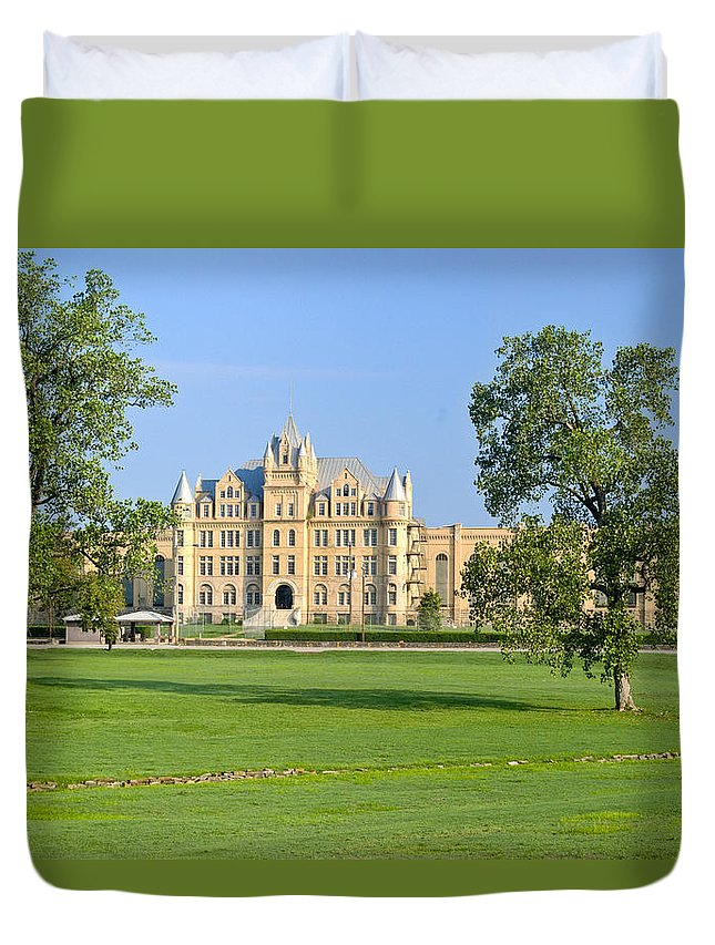 Estate Duvet Cover featuring the photograph English Estate by Douglas Barnett