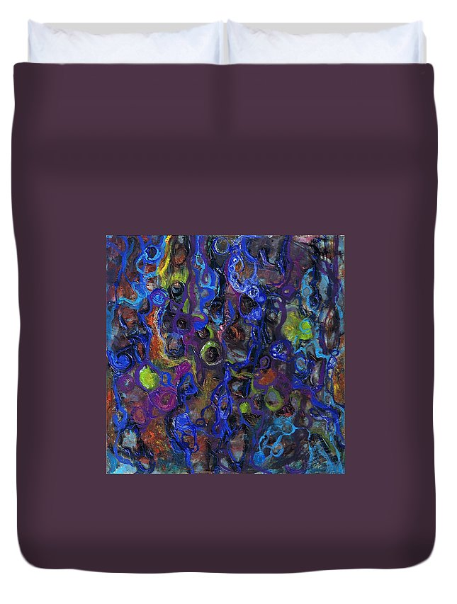 Tortuous Duvet Cover featuring the painting Entanglements Redux by Regina Valluzzi