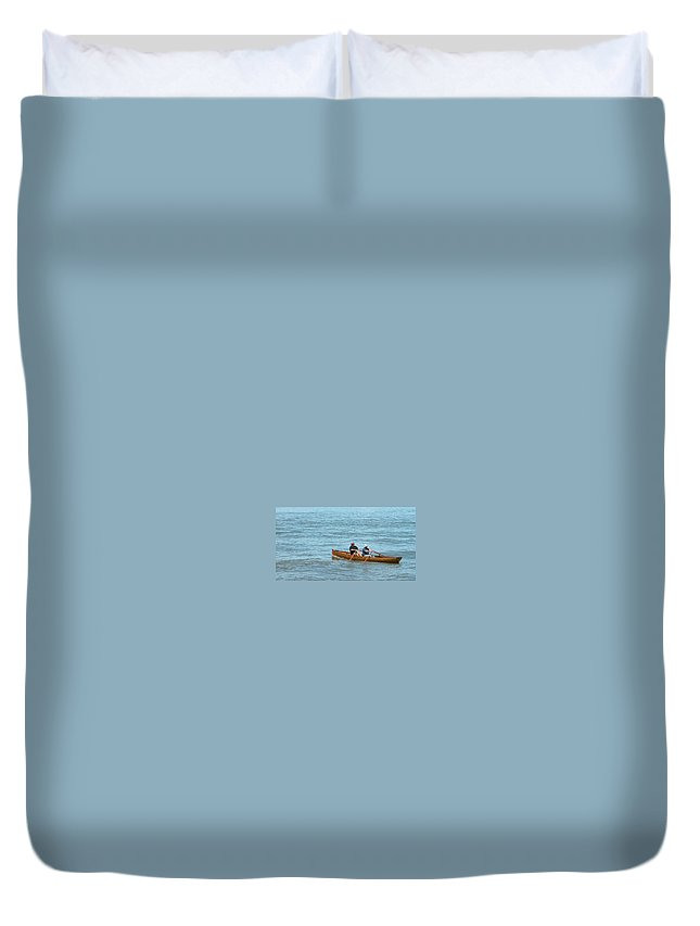 Guy Whiteley Duvet Cover featuring the photograph Escape To Alcatraz by Guy Whiteley