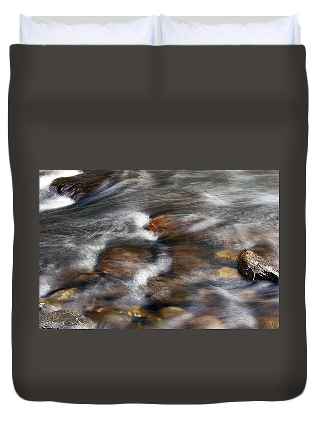 Stone Duvet Cover featuring the photograph Ethereal World by Glenn Gordon