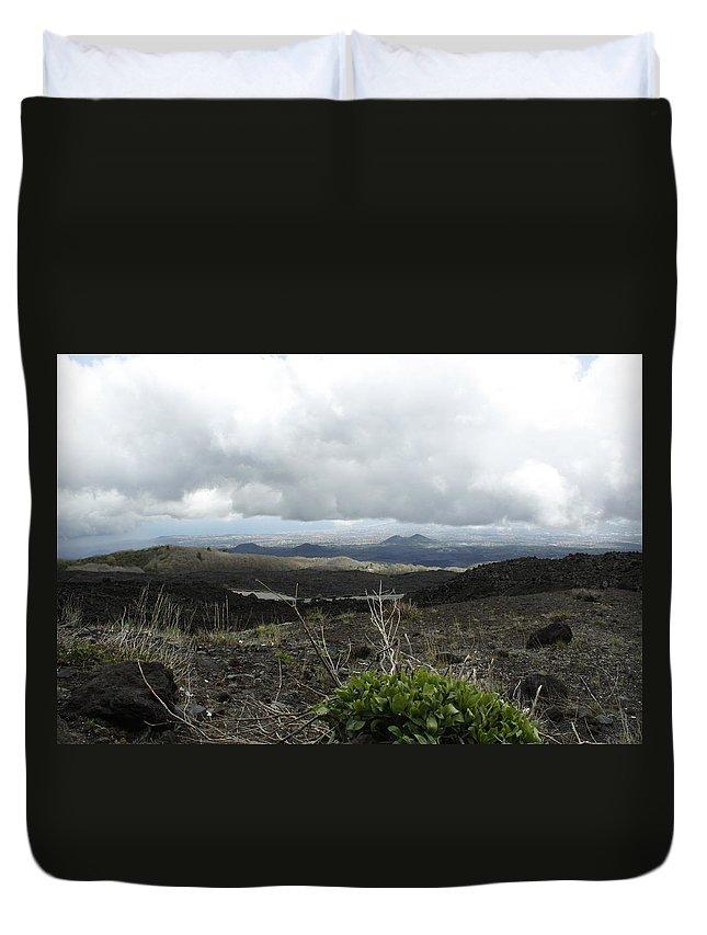 Duvet Cover featuring the photograph Etna's Landscape by Donato Iannuzzi