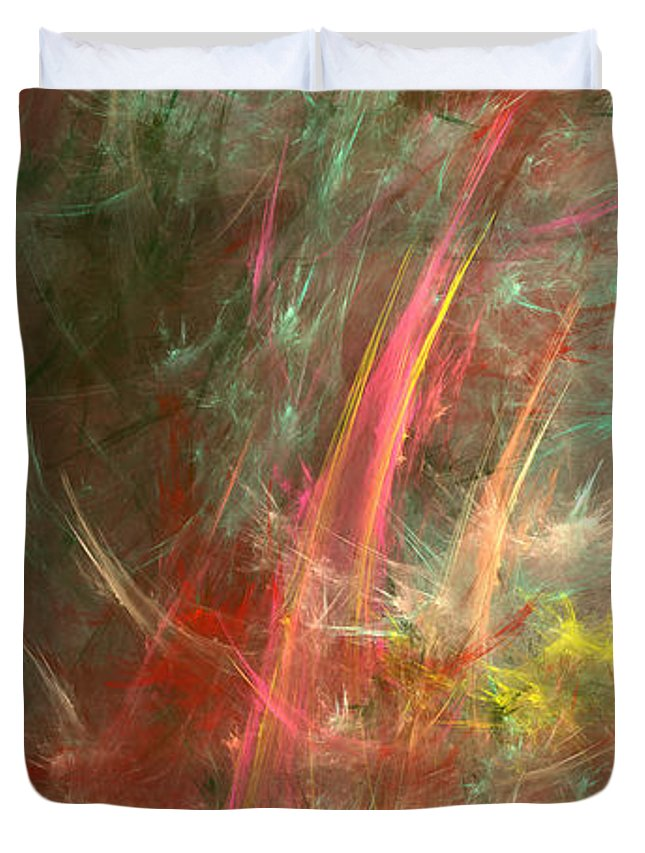 Storm Duvet Cover featuring the digital art Eveil-5 by RochVanh